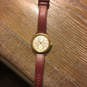 Leather fossil watch